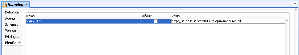 Configuring SSAS URL in ODI Context
